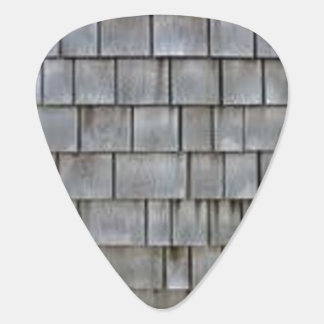 Gray Shingles Guitar Pick