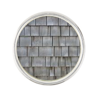 Gray Shingles Lapel Pin