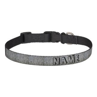 Gray Shingles Pet Collar