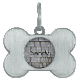 Gray Shingles Pet Name Tag