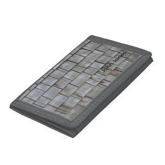 Gray Shingles Tri-fold Wallets