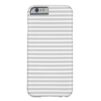 Gray Skinny Stripes Barely There iPhone 6 Case