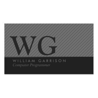 Gray Slanted Stripes Business Card