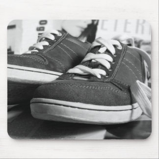 Gray Sneakers Mouse Pads