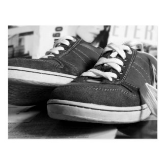 Gray Sneakers Postcard