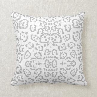 Gray Snow Leopard Cat Animal Print Cushion