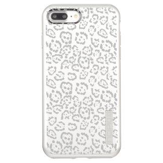 Gray Snow Leopard Cat Animal Print Incipio DualPro Shine iPhone 8 Plus/7 Plus Case