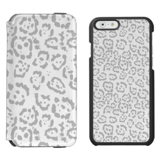 Gray Snow Leopard Cat Animal Print Incipio Watson™ iPhone 6 Wallet Case