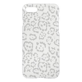 Gray Snow Leopard Cat Animal Print iPhone 8/7 Case