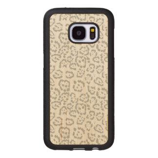 Gray Snow Leopard Cat Animal Print Wood Samsung Galaxy S7 Case