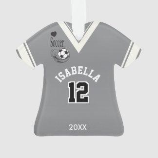 Gray Soccer Shirt Ornament