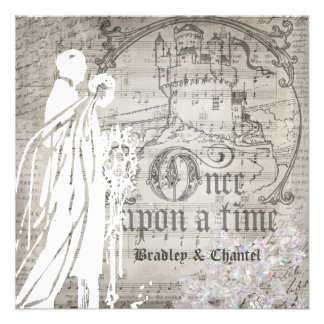 Gray Song Once Upon a Time Invitation