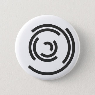 Gray Spiral 6 Cm Round Badge