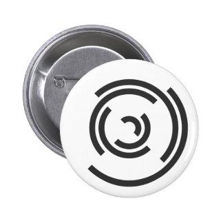 Gray Spiral 6 Cm Round Badge