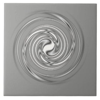 Gray Spiral Ceramic Tile