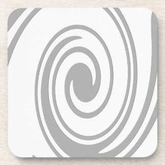 Gray Spiral Pattern Flowing Left to Right Coaster