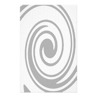 Gray Spiral Pattern Flowing Left to Right Stationery
