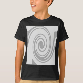 Gray Spiral Pattern Flowing Left to Right T-Shirt