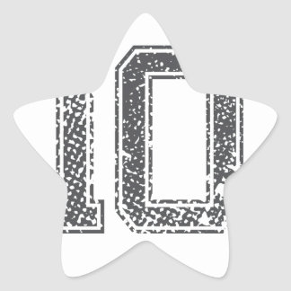 Gray Sports Jersey #10 Star Sticker
