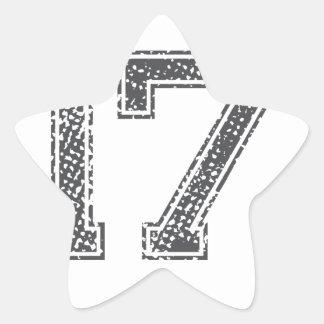 Gray Sports Jersey #17 Star Sticker
