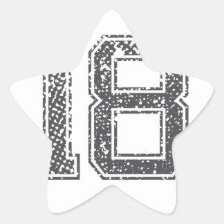 Gray Sports Jersey #18 Star Sticker