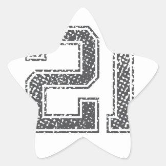 Gray Sports Jersey #21 Star Sticker