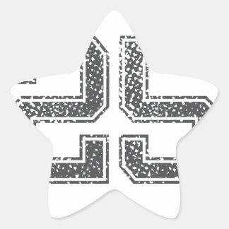Gray Sports Jersey #25 Star Sticker
