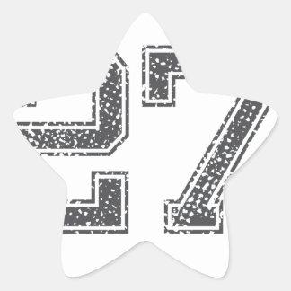Gray Sports Jersey #27 Star Sticker