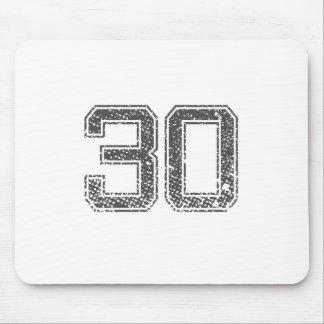 Gray Sports Jersey #30 Mousepad