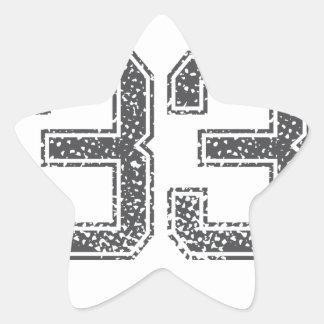 Gray Sports Jersey #33 Star Sticker