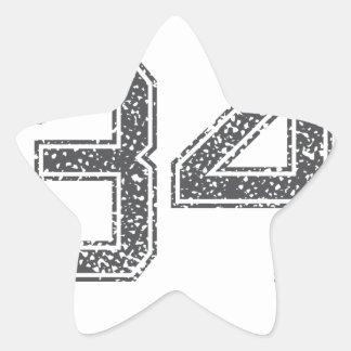 Gray Sports Jersey #34 Star Sticker