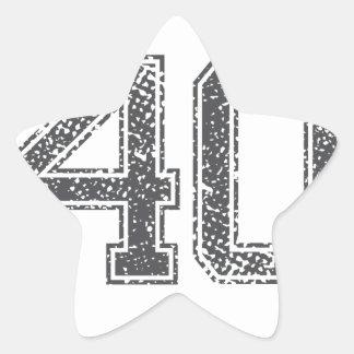 Gray Sports Jersey #40 Star Sticker