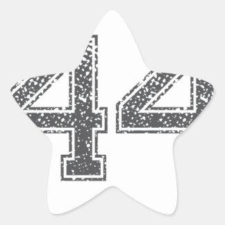 Gray Sports Jersey #44 Star Sticker