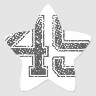 Gray Sports Jersey #45 Star Sticker
