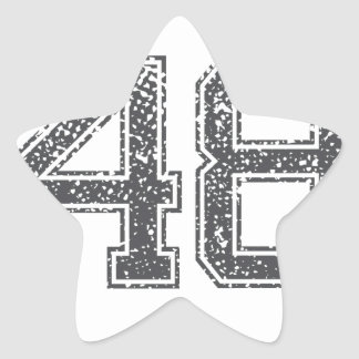 Gray Sports Jersey 48 Star Stickers