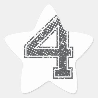 Gray Sports Jersey #4 Star Sticker