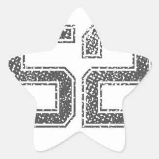 Gray Sports Jersey #52 Star Sticker