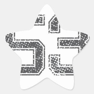 Gray Sports Jersey #53 Star Sticker