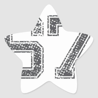 Gray Sports Jersey #67 Star Sticker