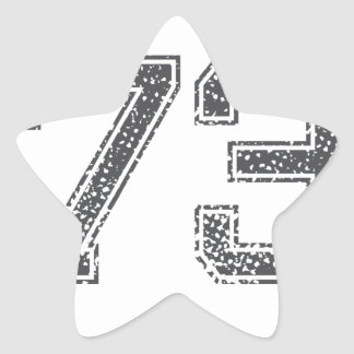 Gray Sports Jersey #73 Star Sticker