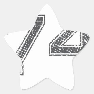 Gray Sports Jersey #74 Star Sticker