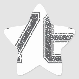 Gray Sports Jersey #76 Star Sticker