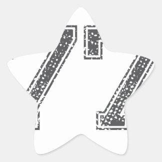 Gray Sports Jersey #77 Star Sticker