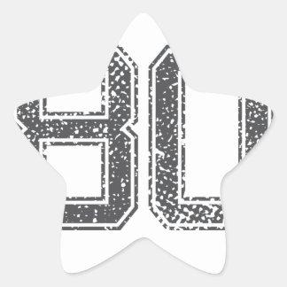 Gray Sports Jersey #80 Star Sticker