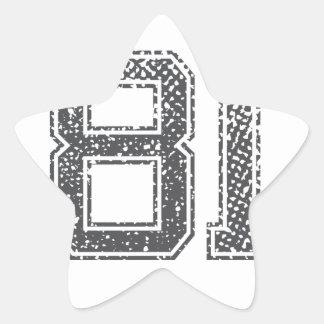 Gray Sports Jersey #81 Star Sticker