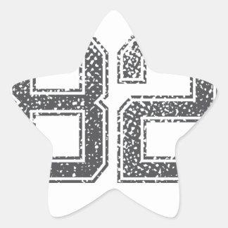 Gray Sports Jersey #82 Star Sticker
