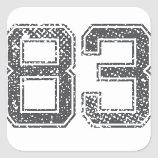 Gray Sports Jersey #83 Stickers