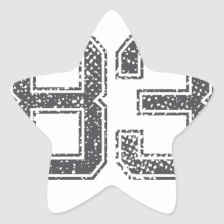 Gray Sports Jersey #83 Star Sticker