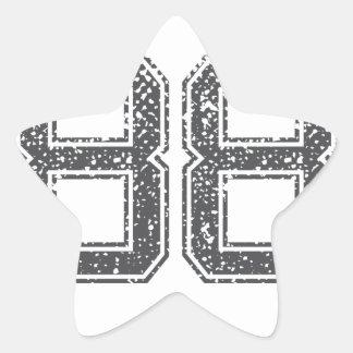 Gray Sports Jersey #88 Star Sticker