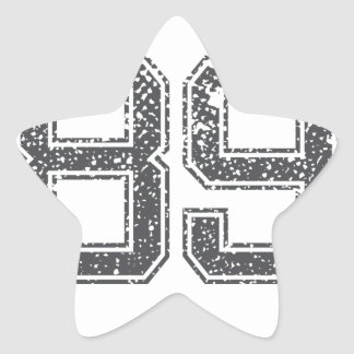 Gray Sports Jersey #89 Star Sticker